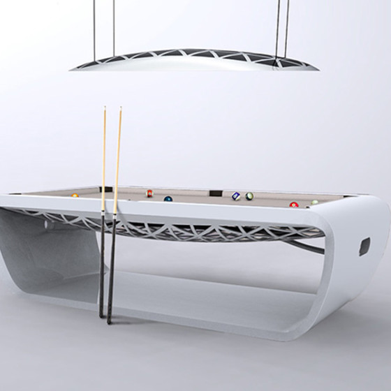 BILLARD BLACKLIGHT BLANC LUSTRE BLANC