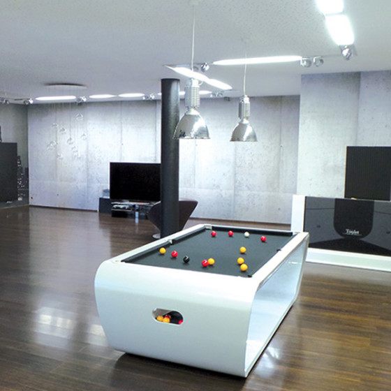 BILLARD BLACKLIGHT BLANC TAPIS GRIS ARDOISE PORTE QUEUES