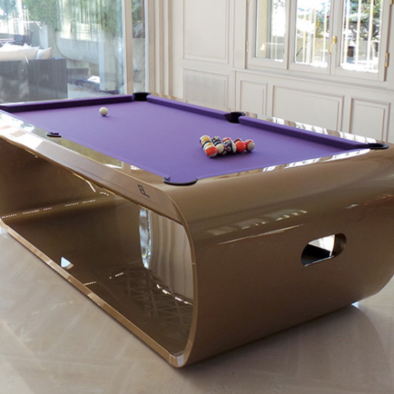 BILLARD BLACKLIGHT LUXE GOLD TAPIS VIOLET