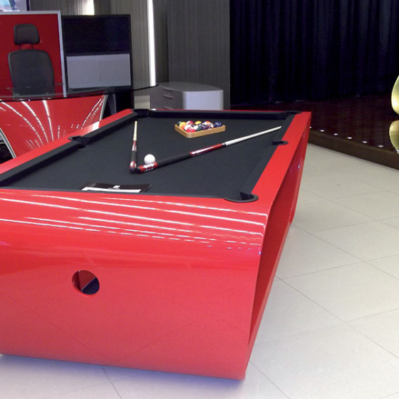 BILLARD BLACKLIGHT ROUGE TAPIS GRIS ANTHRACITE