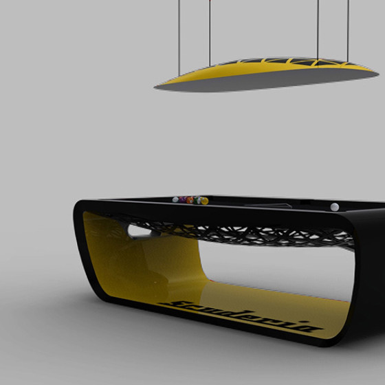 BILLARD BLACKLIGHT SCUDERIA Limited Edition noir/jaune