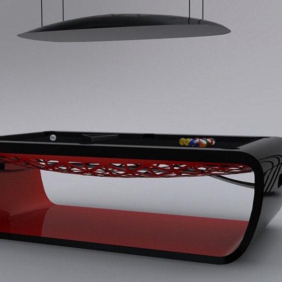 BILLARD BLACKLIGHT SCUDERIA Limited Edition noir/rouge